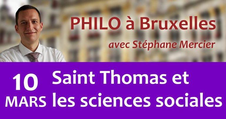 Saint Thomas et les sciences sociales - Stéphane Mercier