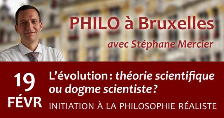 L'évolution, théorie scientifique ou dogme scientiste ? - Stéphane Mercier