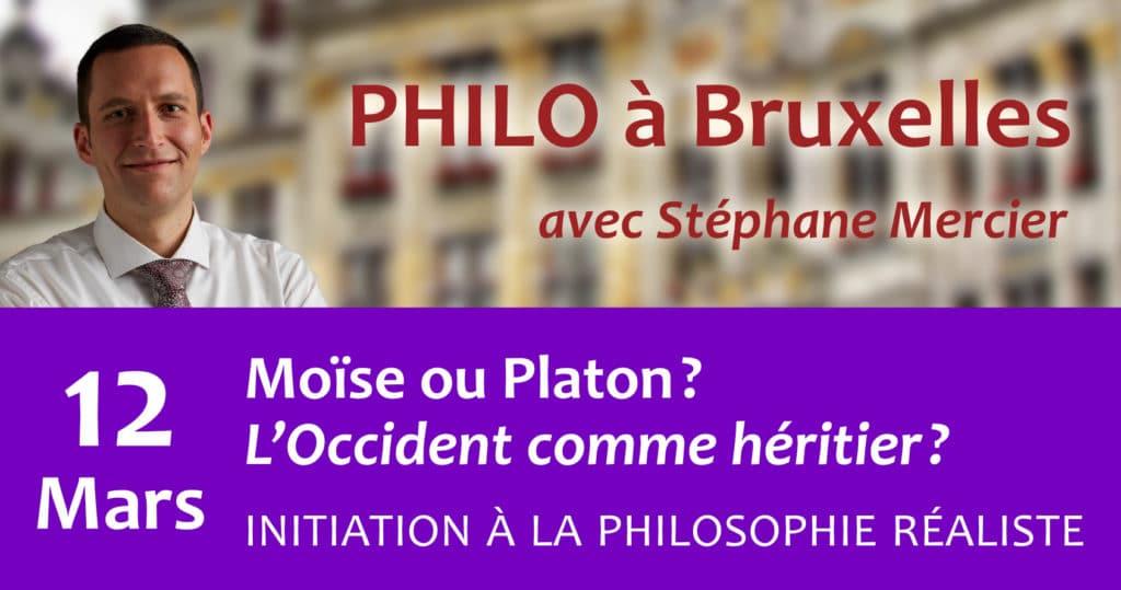 Moïse ou Platon ? L'Occident comme héritier - Stéphane Mercier