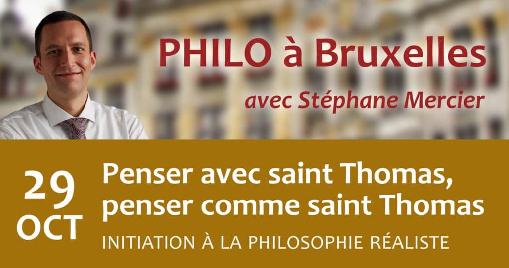 Penser avec saint Thomas, penser comme saint Thomas - Stéphane Mercier