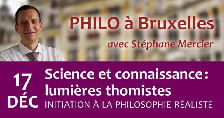 Science et connaissance : lumières thomistes - Stéphane Mercier : Ne s'autorise-t-on pas trop facilement aujourd'hui à « croire en la science » pour se dispenser à peu de frais de la philosophie comme aussi de la théologie ? Et d'ailleurs, sait-on ce qu'est la science ou brandit-on son nom comme un fétiche pour apaiser notre conscience ? Platon avouait volontiers qu'il était plus facile de dire ce que la science n'est pas plutôt que ce qu'elle est ! La philosophie de la connaissance de saint Thomas et son regard sur la science permettent d'y voir plus clair et d'éviter les erreurs de perspective grossières où tombent jusqu'aux plus prestigieux savants quand ils sont, comme Stephen Hawking, trop peu philosophes…