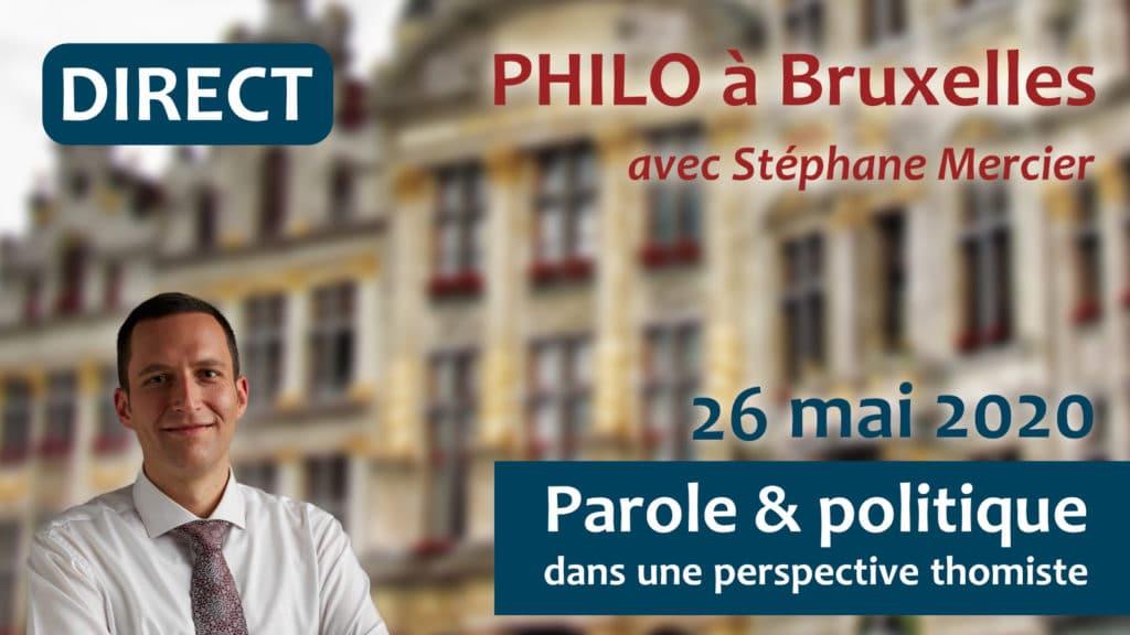 Parole et politique dans une perspective thomiste - Stéphane Mercier