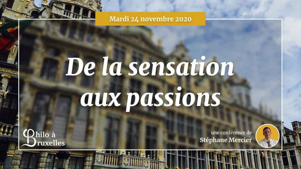 De la sensation aux passions